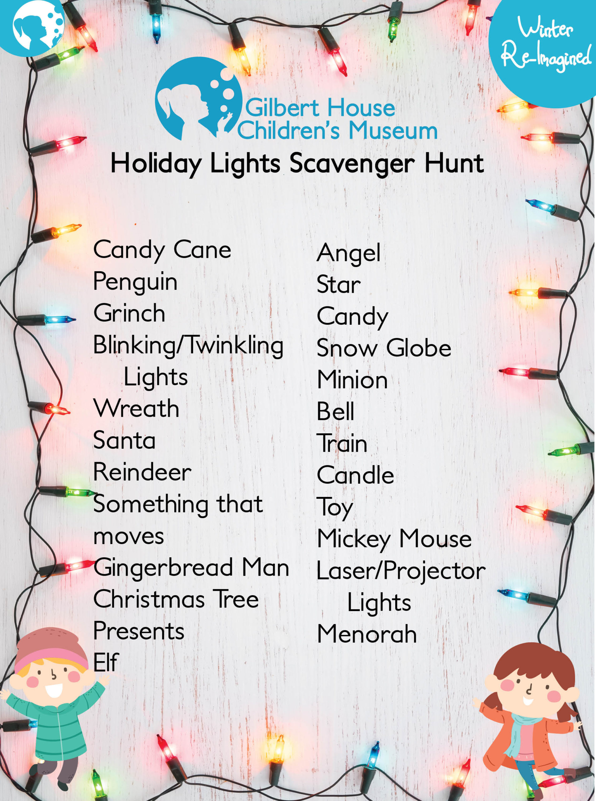 A listing of outdoor holiday lights and decorations to find in your neighborhood