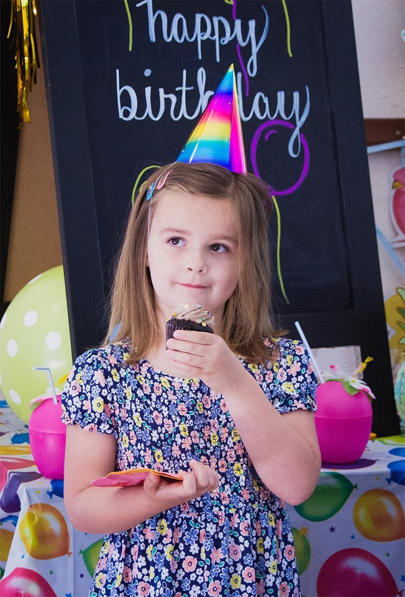 Birthday Girl with Cupcake